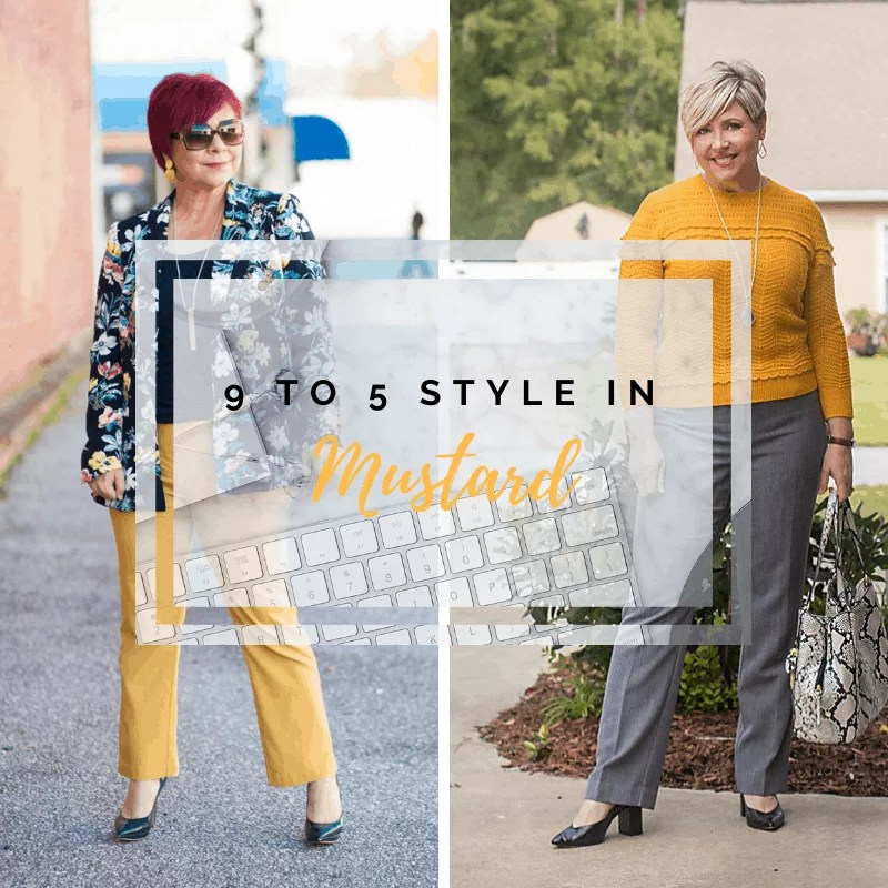 9 to 5 style in mustard
