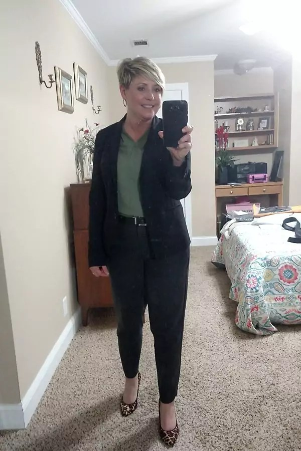 fall work wear for women over 40