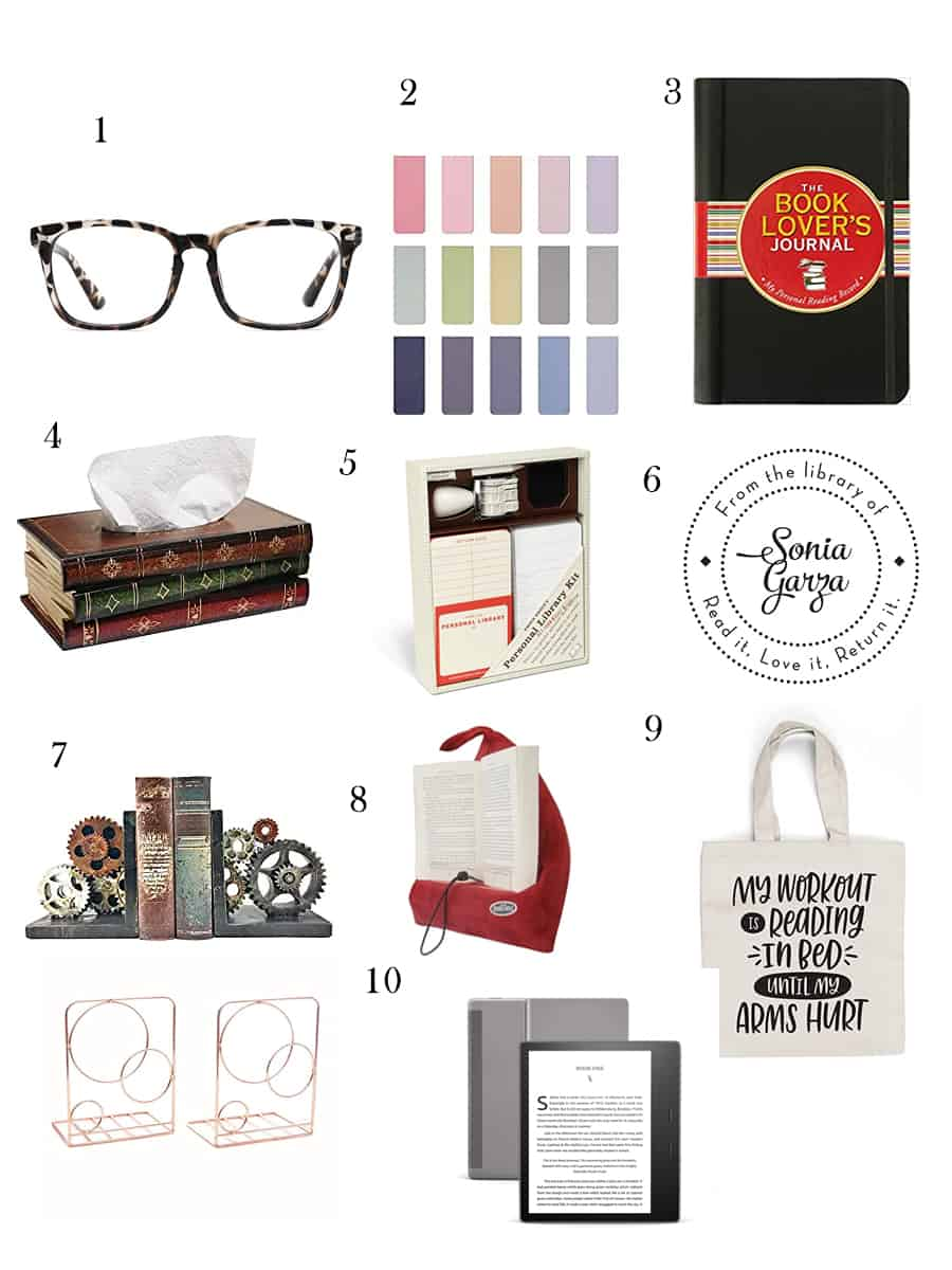 Christmas shopping gift guide, book lover gifts