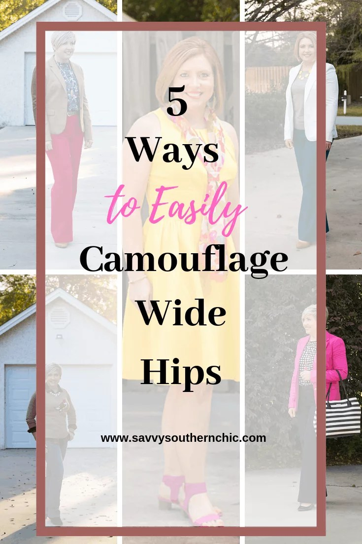 5 ways to camouflage wide hips