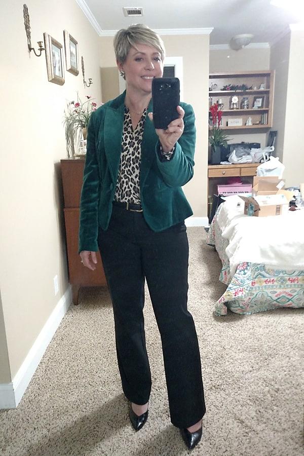 velvet blazer outfit