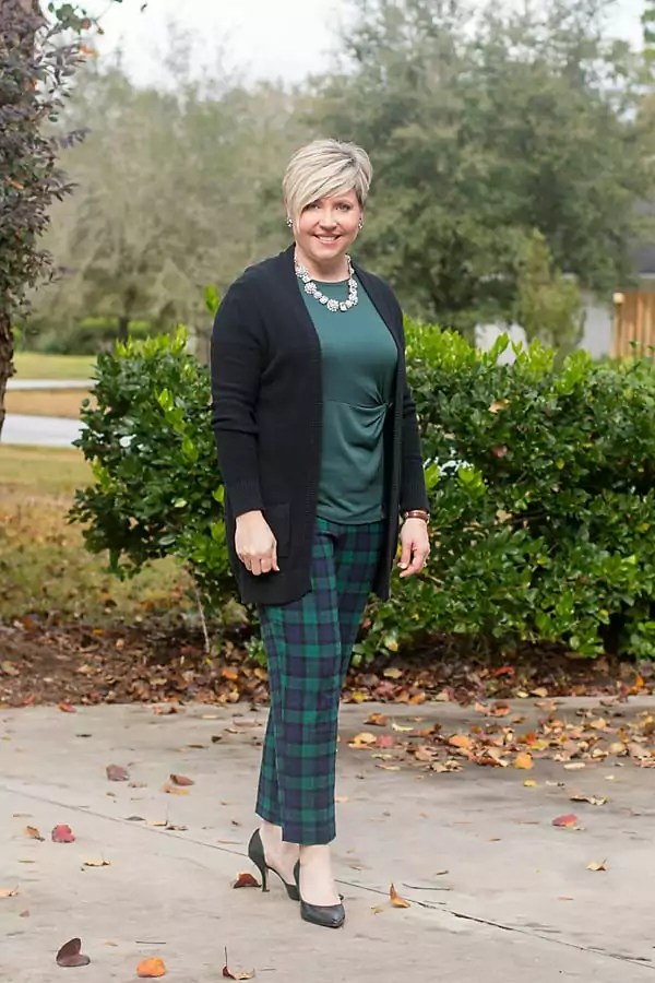 plaid pants for women over 40