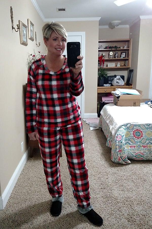 cozy fleece pajamas from Amazon