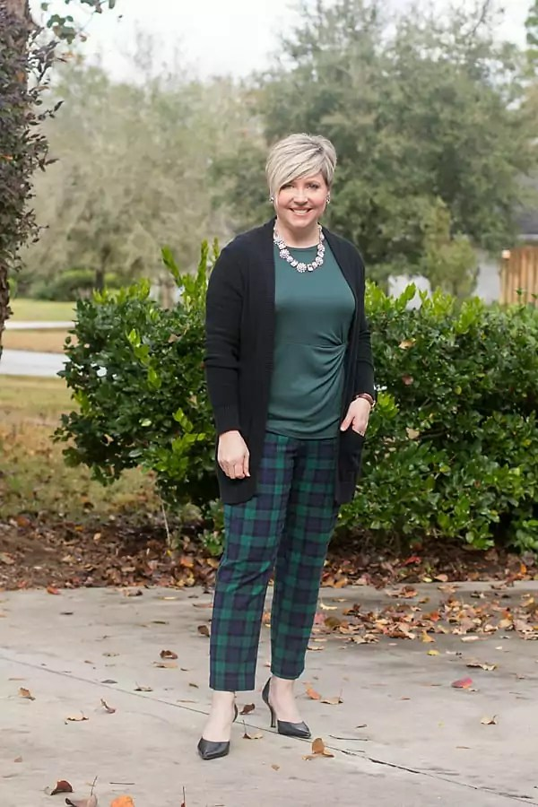 Old Navy blackwatch plaid pants
