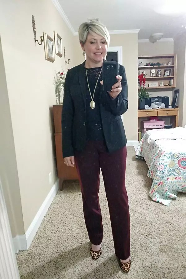 black blazer for work