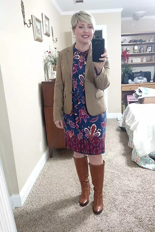 blazer with dress