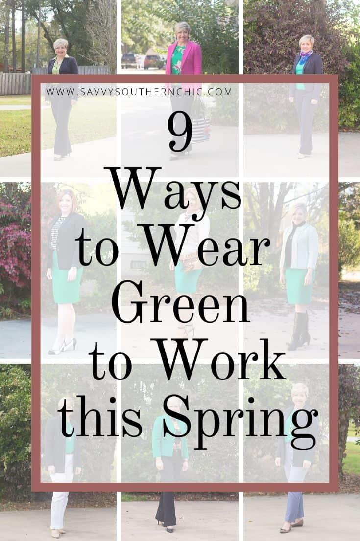 9 ways to wear green to work