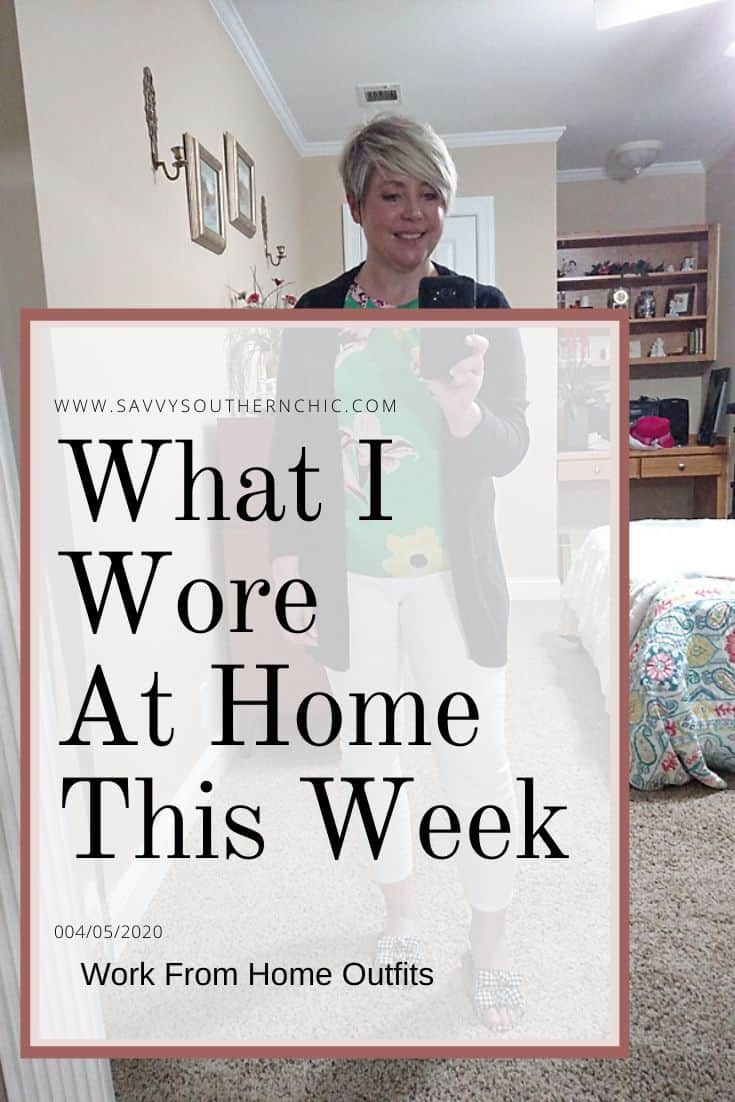what I wore at home this week/ work from home outfits