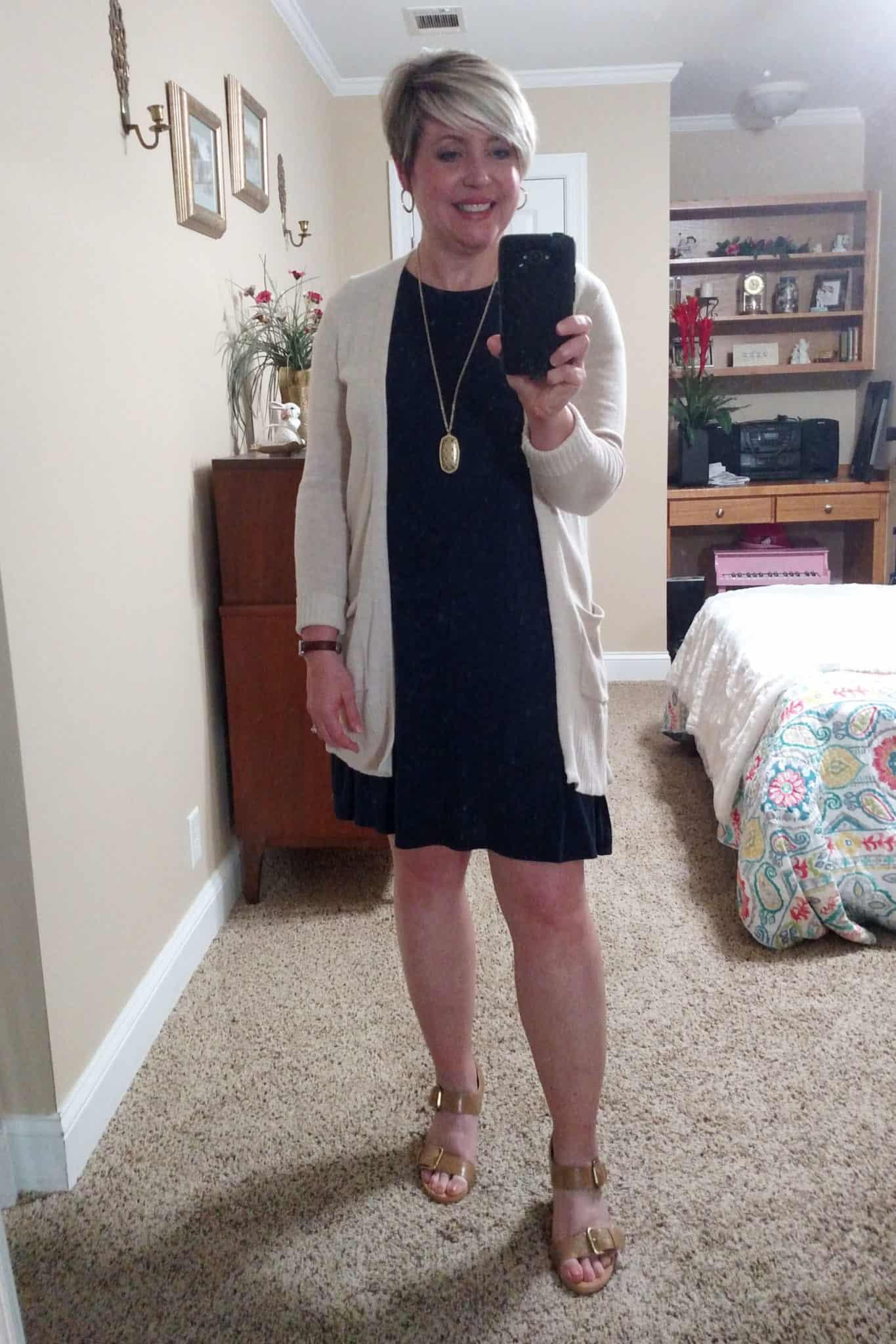 Amazon tshirt dress with cardigan