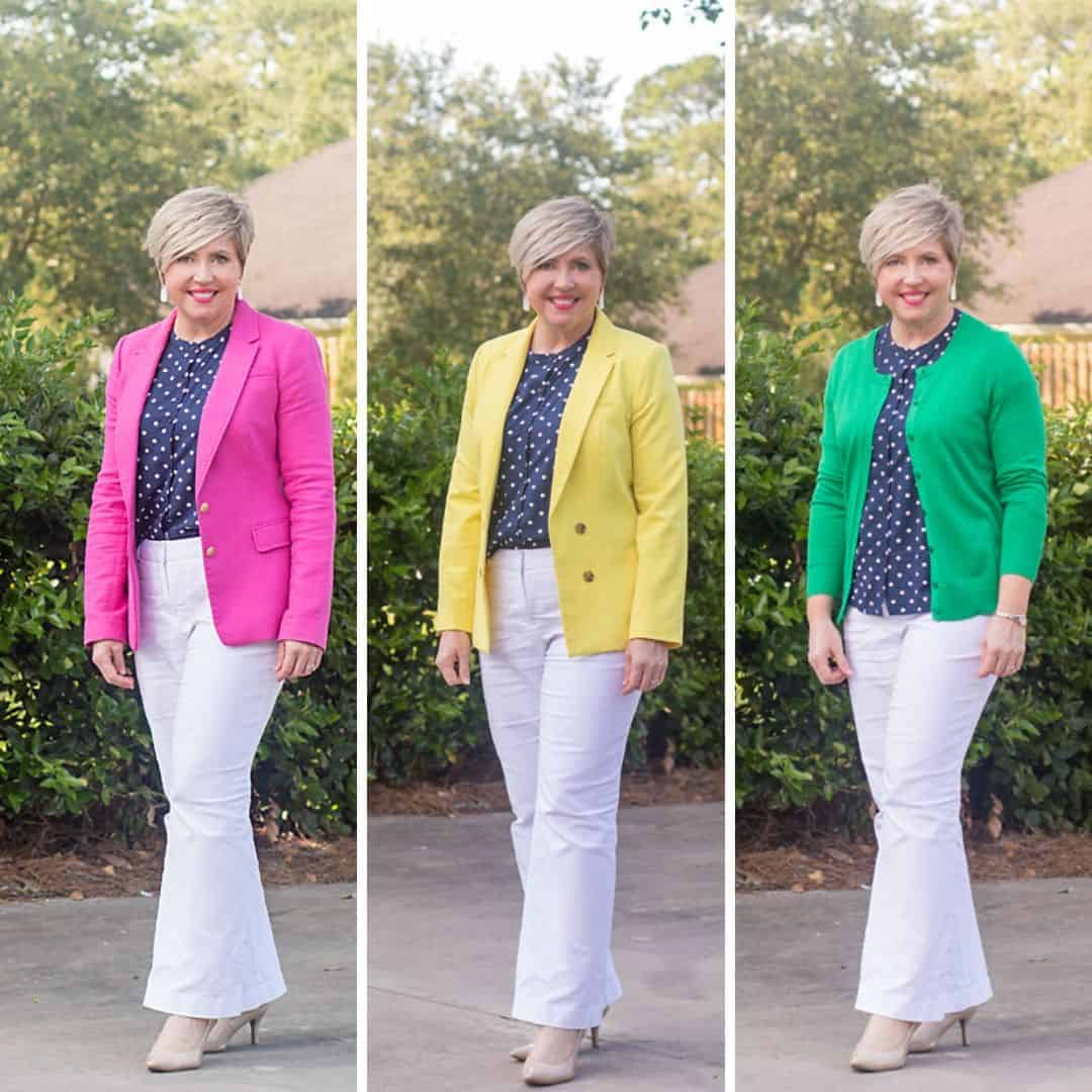 bright colors in office wear