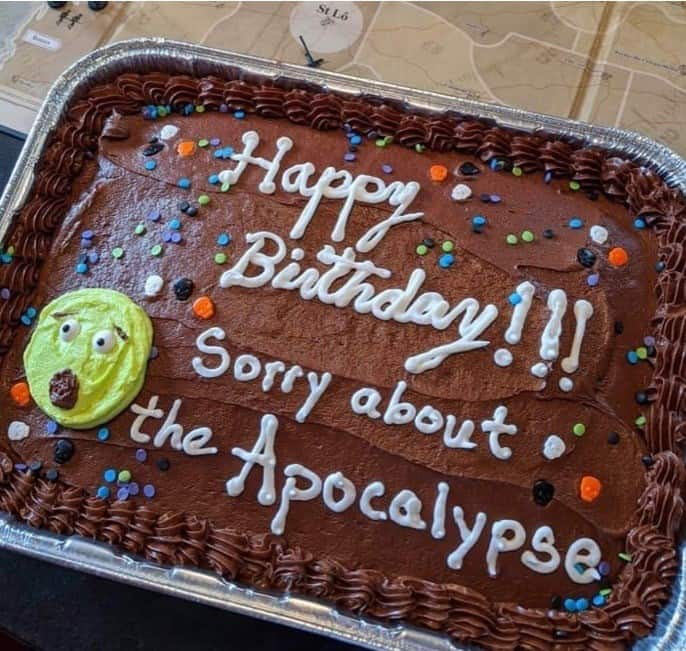 birthday cake for quarantine