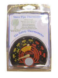 Magnetic Flue Thermometer Stove Pipe Flue Thermometer Fuel ...