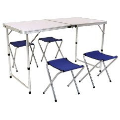Folding Table And Chairs Set Camping Chair Cover Hire Staffordshire Four Savvysurf Co Uk