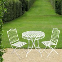 Shabby Chic Bistro Set Garden Furniture Set Metal Patio