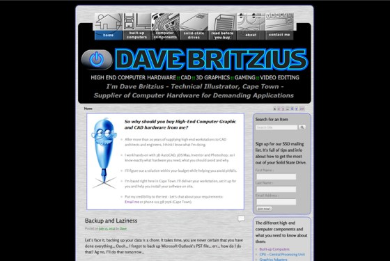 Dave's new site