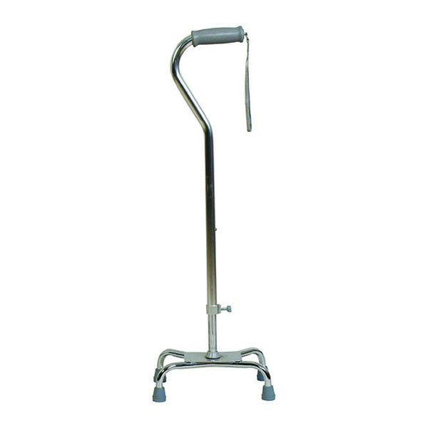 Wide Base Quad Cane with Offset Handle