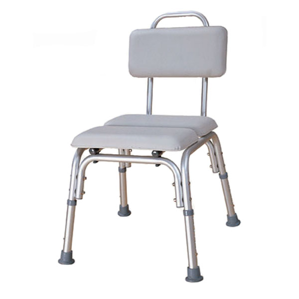 Padded Bath Chair with watertight cushioned seat  backrest