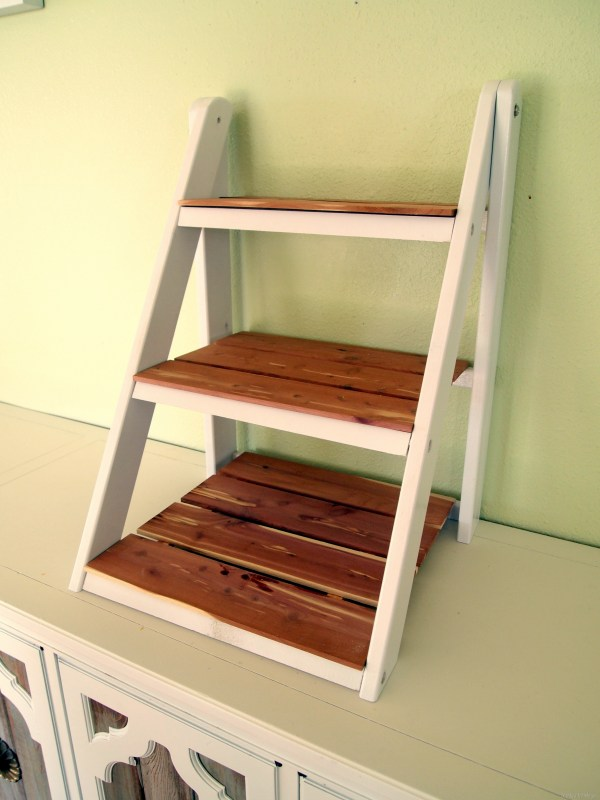 Mini Ladder Shelf Serving & Organization - Reality