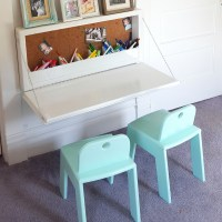 Wall-mounted Secretary Desk for Kids - Sawdust and Embryos