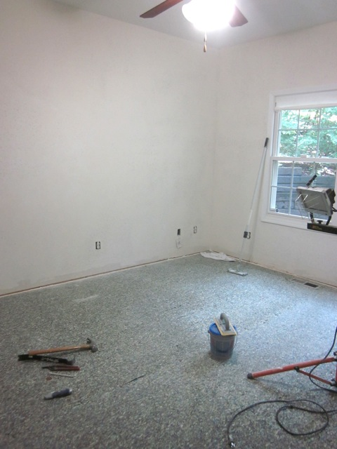 How to remove carpet.