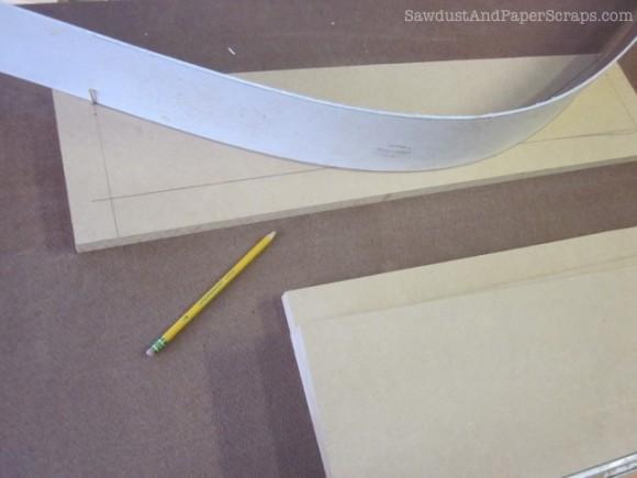 Draw a symmetrical arch