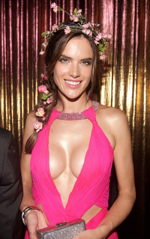 The beautiful Alessandra Ambrosio shows signs of Breast