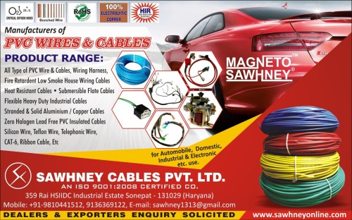 small resolution of we are one of the prominent manufacturers suppliers and exporters of a wide range of wiring harness solenoid switches and pvc wires and cables