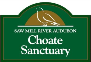 Entrance sign for Choate Sanctuary on Crow Hill Road, just north of Route 133-Millwood Road in the Town of New Castle.