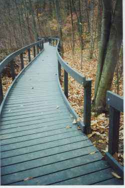 The Pinecliff Boardwalk was built to ADA standards by volunteers from the community. Photo: Anne Swaim