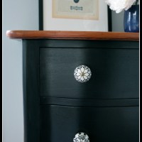 Antique Dresser in Lamp Black