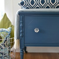 Vintage Cedar Chest in Navy Blue