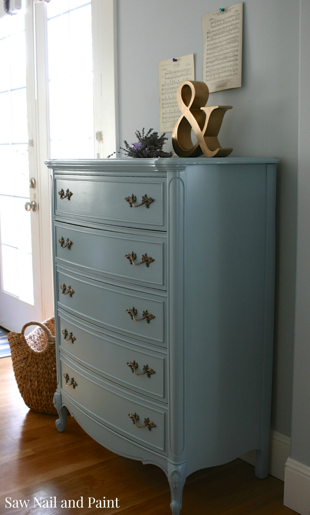 French Provincial Dixie Dresser in French Blue   Saw Nail ...