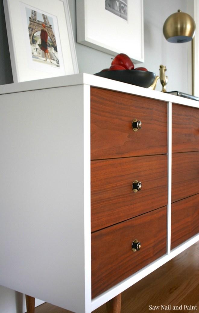 Bassett Mid Century Dresser side