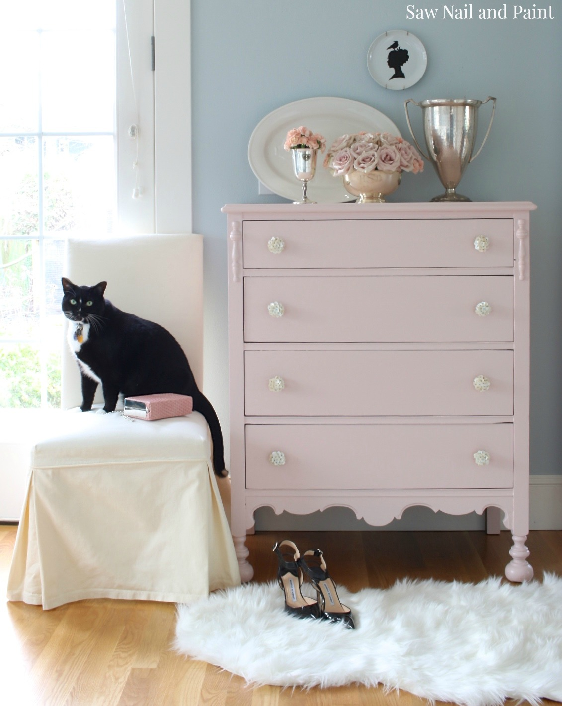 Blush Dresser with Louis 2