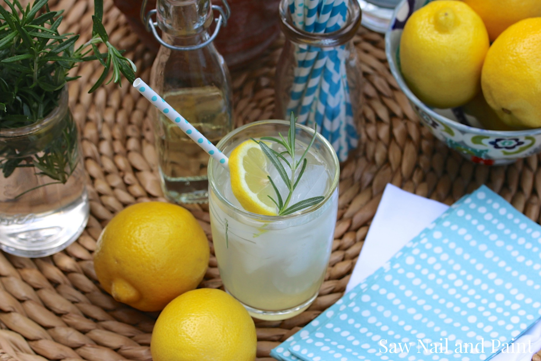 Rosemary lemonade 1