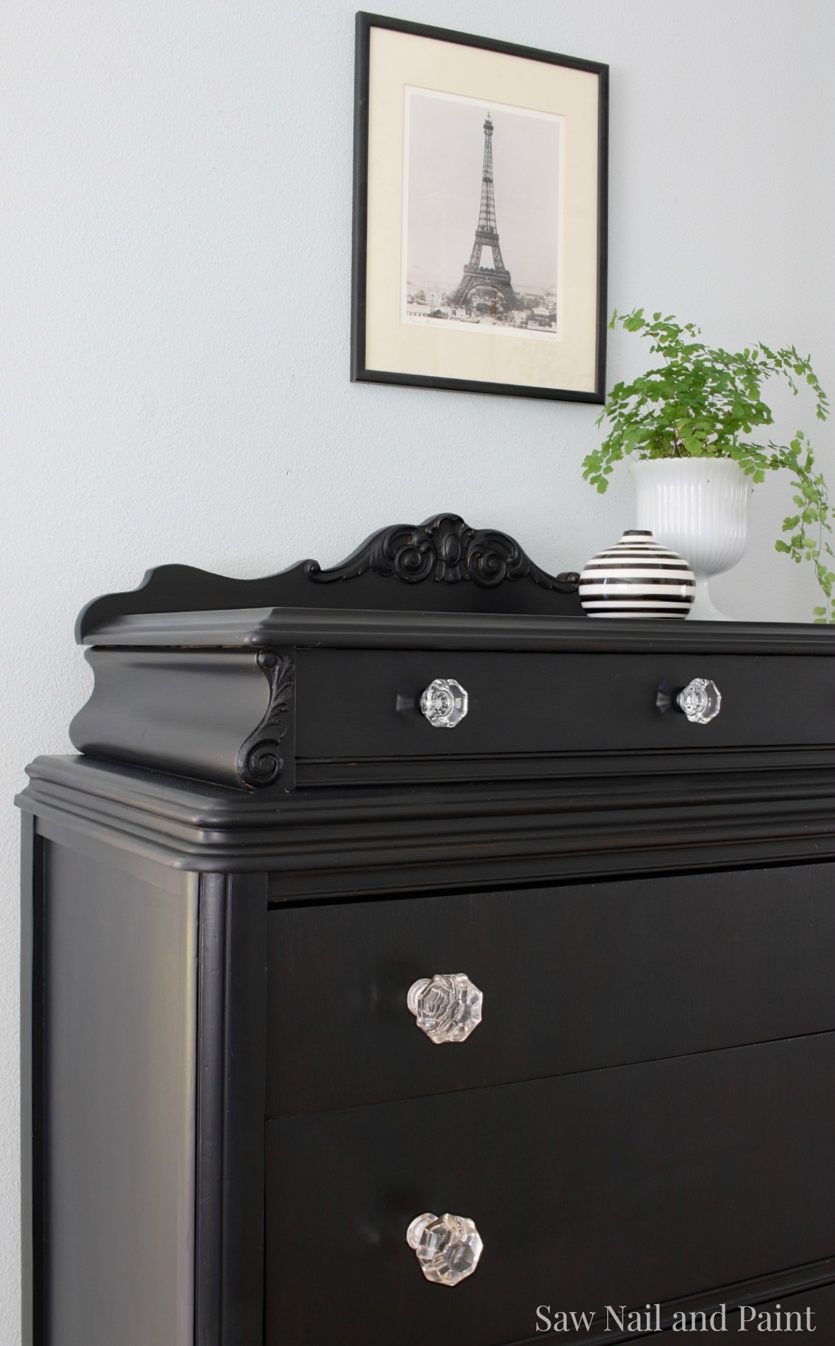 black hepplewhite brass weathered drawer green with makeover from milk and dresser knobs paint door after the wd before