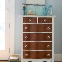 Serpentine Dresser in Antique White
