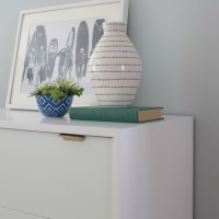 Mint and White Midcentury Dresser