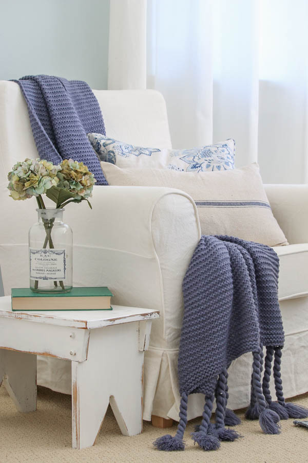 Vintage Thrifted Blue And White Bedroom Makeover Saw