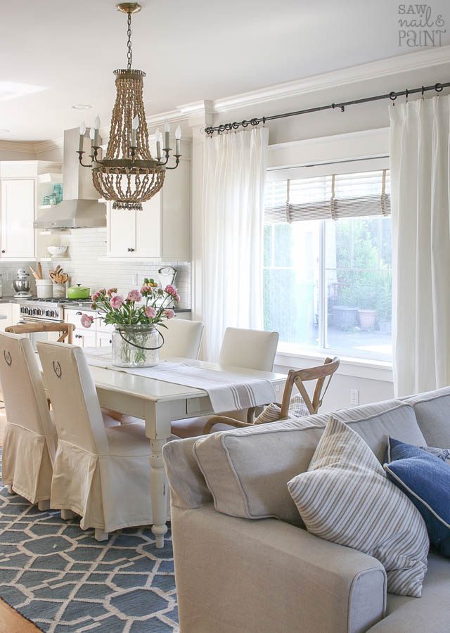 My Home Paint Colors: Warm Neutrals and Calming Blues - Saw Nail and ...