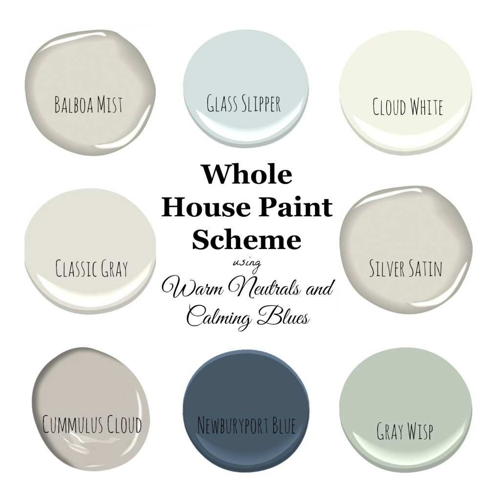 My home paint colors warm neutrals and calming blues for Paint color palette