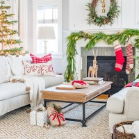 Traditional Christmas Living Room Tour 2017