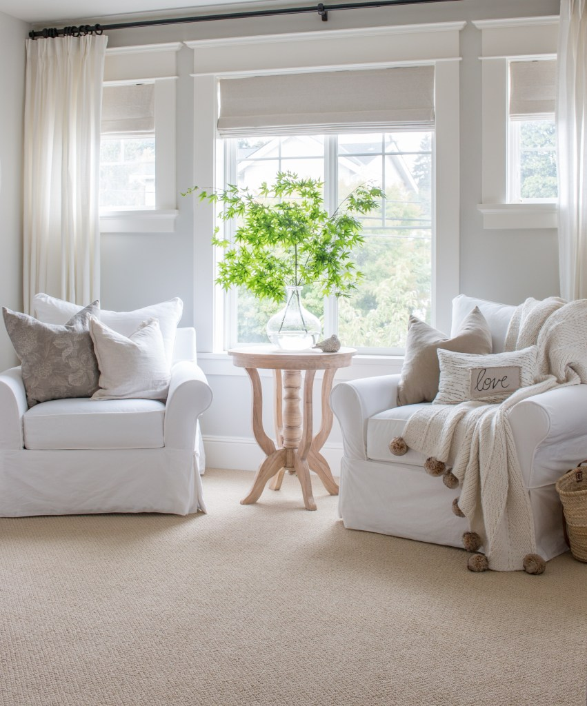 So Elegant Love A Sitting Area In A Master Bedroom By: Neutral Master Bedroom