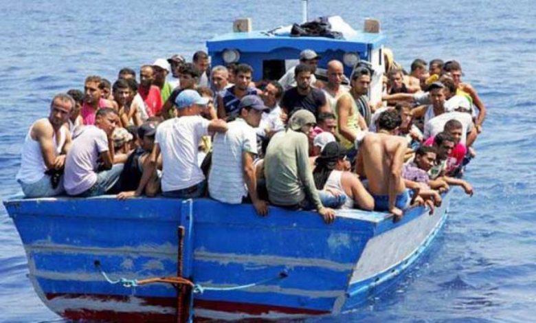 صورة اعتراض قوارب تقل 87 مهاجرا جزائريا على السواحل الإسبانية