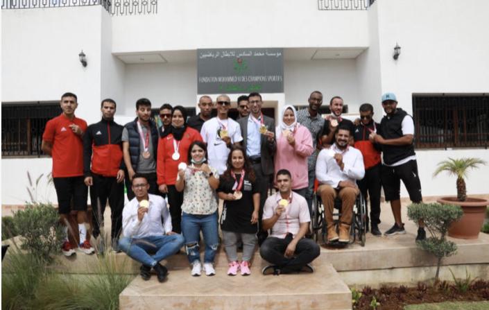 صورة مؤسسة محمد السادس تكرم الأبطال البارالمبيين