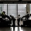 City at Work, Shoeshine, Calgary Airport, Calgary