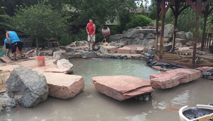 Long residence pond rebuild 2015 for Koi pond water murky