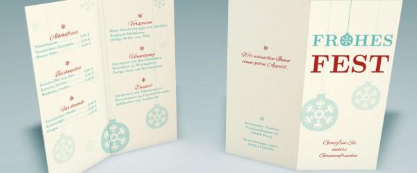Tutorial Gestalte eine Menkarte zu Weihnachten