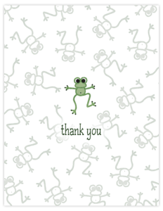 FL 19 froggie notecard 'thank you'
