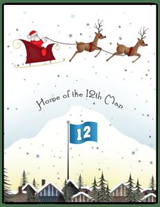 SH 35b - santa sleigh rooftops 12th man